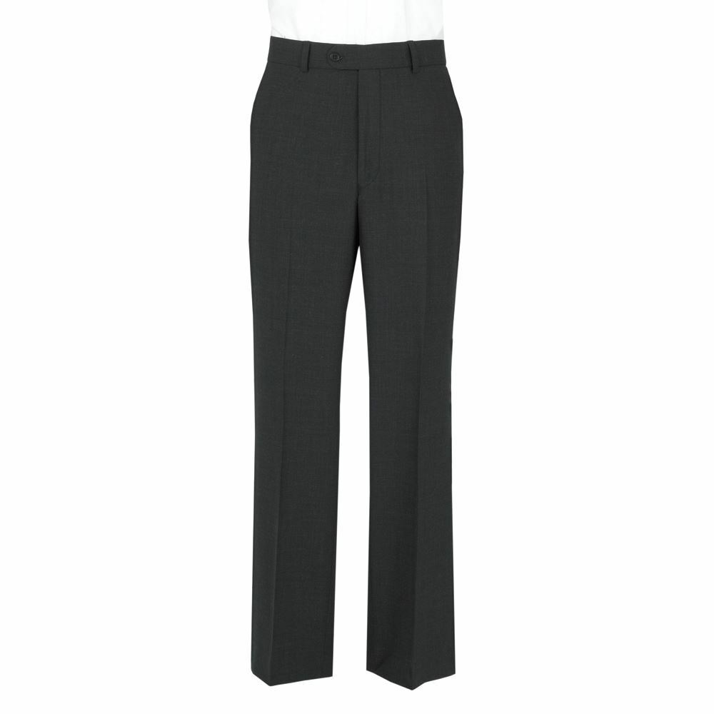 SCOTT Mens Classic Fit Plain Charcoal Trouser