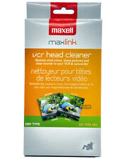 MAXELL 290058 Maxell VP-100 VHS Head Cleaner FOR VCR CAMCORDER (Dry)