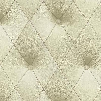 Faux 3-D Light Green Button Tufted Diamond Patterned Wallpaper LL29575