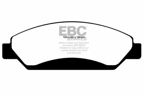 DP1742 EBC Ultimax Front Brake Pads fit CADILLAC CHEVROLET GMC