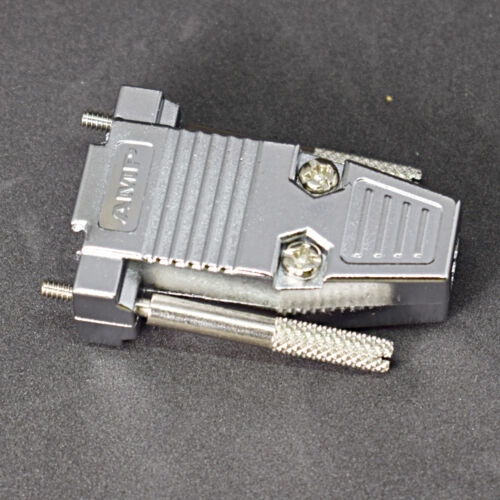1pc Metal Plated D-Sub 9pin 2-Row//15pin 3-Row Cover Shell//Hood Housing