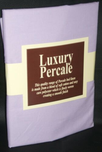 "Pillowcase New 2ft 6/""x 6/'6/"" Long Bed Fitted Sheet Lilac"