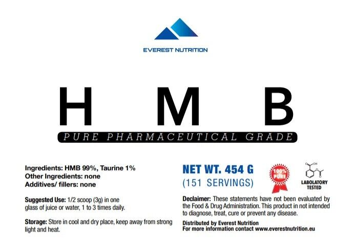 HMB 100% Powder 100% HMB Pure Pharmaceutical Quality 093b2a