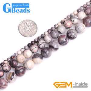 Natural-Gemstone-Porcelain-Jasper-Brown-Round-Beads-for-Jewelry-Making-DIY-15-034