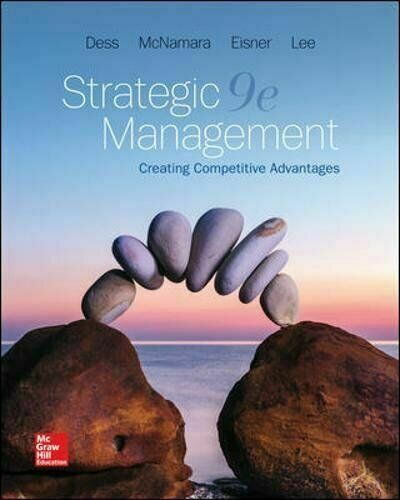 Strategic Management Creating Competitive Advantages By Eisner Dess Lumpkin And Mcna 2018 Trade Paperback For Sale Online Ebay