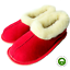 Women-039-s-Shoes-REAL-SHEEP-WOOL-Slippers-Handmade-Hard-Sole-Red thumbnail 1