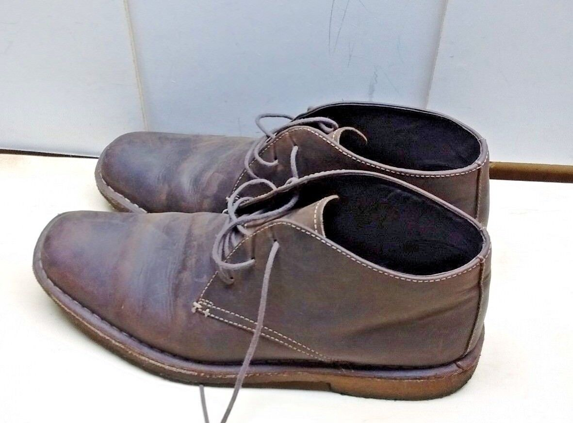 Johnston & Murphy Men Leather Lace Up Brown Desert Chukka Boots Crepe Sole 10M