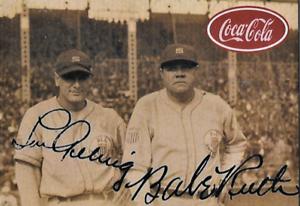 Babe-Ruth-Lou-Gehrig-Coca-Cola-Advertising-Baseball-Card-Facsimile-Auto
