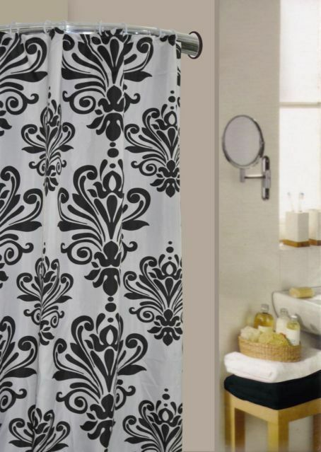 Luxury Fabric Modern Design Shower Curtains 70 x 70In(180 x 180cm) With 12 Hooks