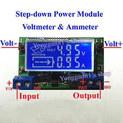 DC-DC Step-down Charge LED Driver Voltmeter Ammeter Module 3A Adjustable Power