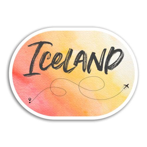 2 x 10cm Iceland Vinyl Stickers Travel Cool Fun Sticker Laptop Luggage #18281