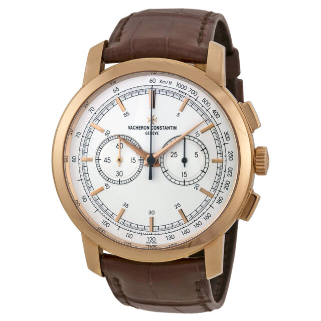 Vacheron Constantin Patrimony Traditionnelle Silver Dial Chronograph Mens Watch