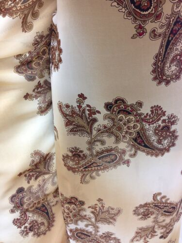Brown   Chiffon Paisley //Floral Print Fabric wedding light Designer Being