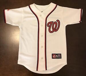 1eec07d69 ... discount image is loading majestic mlb washington nationals baseball jersey  youth small 2dc23 d95ad