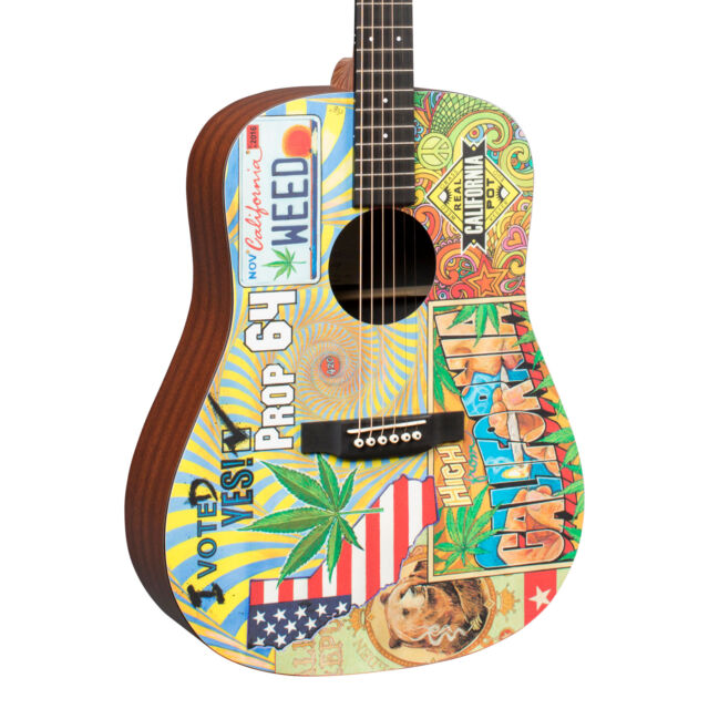 Acoustic Electric Guitars Martin Dx-420 Prop 64 Robert Goetzl Illustrated Acoustic Electric Guitar With The Best Service