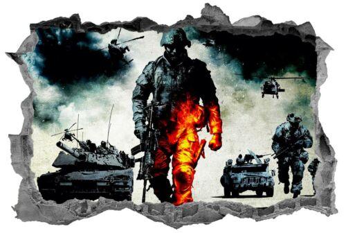 Soldiers,Army,3d,Sticker,Decal,War,Kids,Bedroom,Battle,Wall Art,Mural