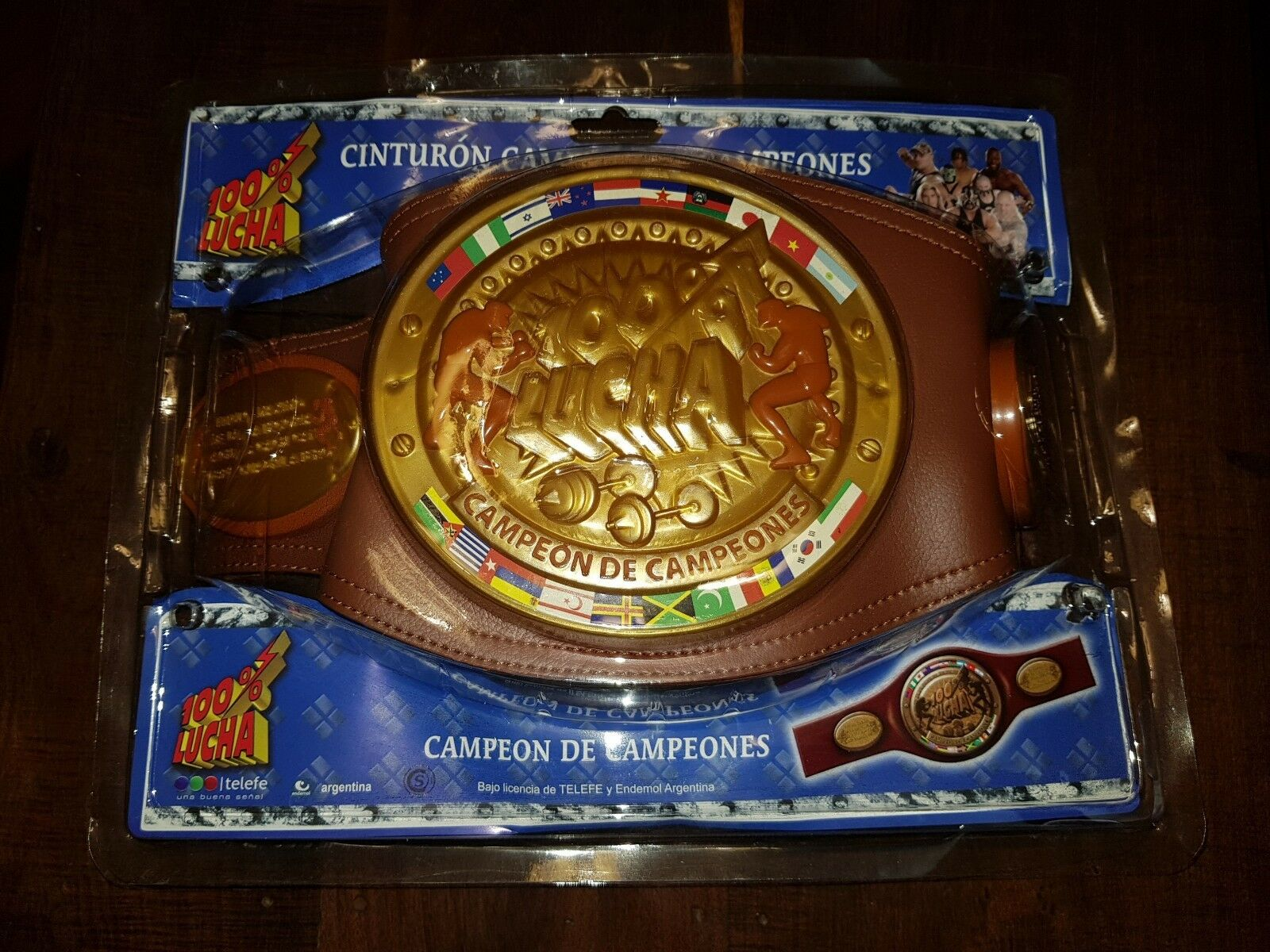 100% LUCHA silverINA WRESTLING CHAMPIONSHIP BELT MINT CONDITION TOY