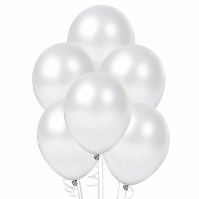 25 Pearl White Latex Balloons Helium Quality Birthday Wedding Party Decorations