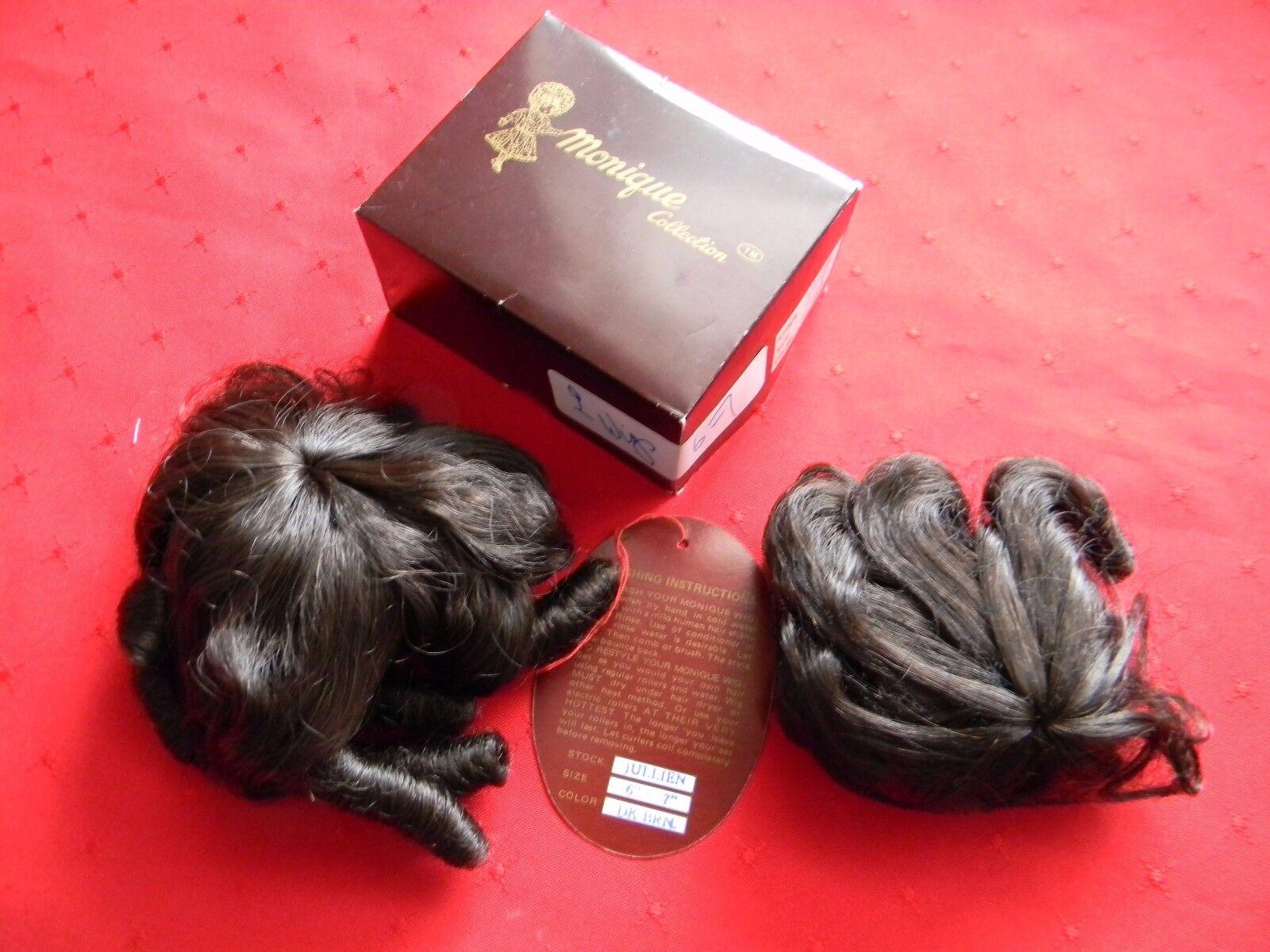 Monique Sammlung Puppe Perücken 2 X Julien 15.2cm-17.8cm 15.2cm-17.8cm 15.2cm-17.8cm Dunkelbraun Nos 261083
