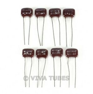 100 VOLT RATED 40 LOT PACK OF NOS SILVER MICA CAPACITORS 8 DIFFERENT VALUES