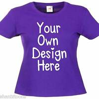Ladies Womens Purple T Shirt Personalised Text Custom Design Hen Night Party