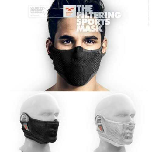 NAROO Filtering Sports Mask UV Cut 99% MICRONET Washable All Weather