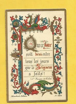 Behendig Image Pieuse Holy Card Blanchard Orleans Benit Entre Tous Les Jours