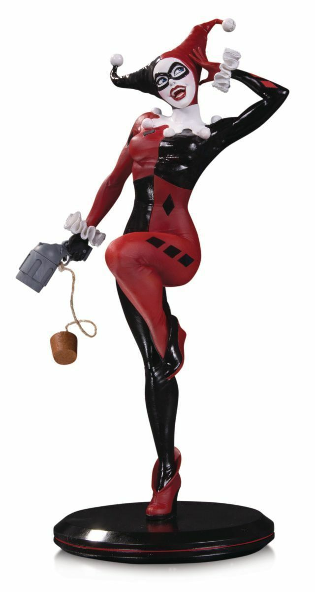 STATUE HARLEY QUINN by JOELLE JONES - RESINE DC COMICS COVER GIRLS - EN STOCK