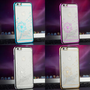 Cute-Chrome-Clear-Hard-Back-Case-Cover-For-iPhone-4s-5s-6-amp-Plus-Screen-Protector