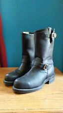 CHIPPEWA VIBRAM BLACK LEATHER ENGINEER MOTORCYCLE BOOTS size 10D style 27863