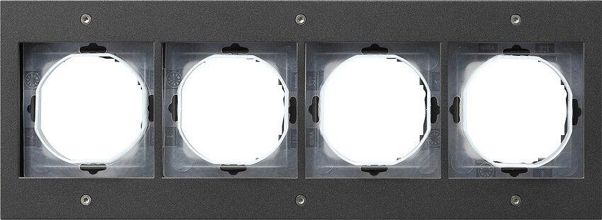 Gira TX 44 Farbe anthrazit, Rahmen 4-fach 021467, UP-feuchtraum   Garantiere Qualität und Quantität