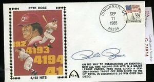 Pete-Rose-1985-4193-Hits-Signed-Jsa-Certed-Fdc-Autograph-Authentic