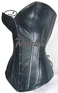 73e3d5232e5 Sweetheart Body Shaper Over Bust Steel Boned Genuine Leather Corset ...