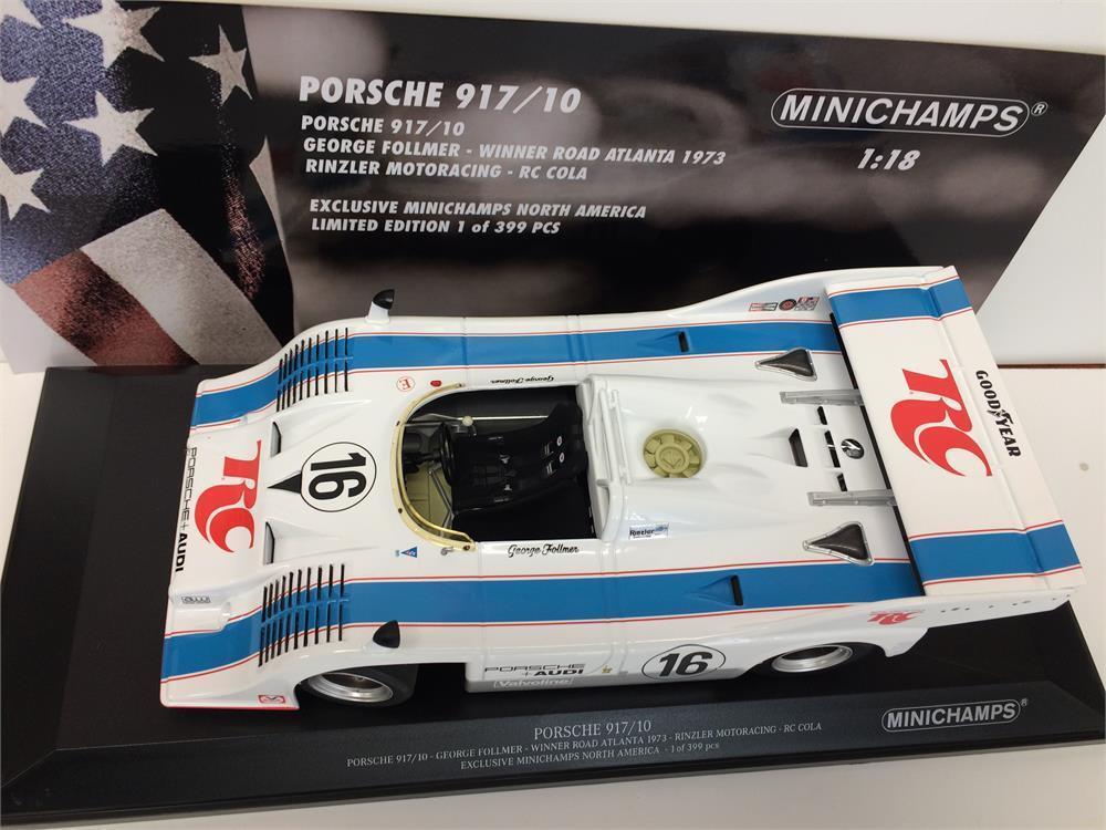 1973 Porsche 917 10 ganador Road Atlanta por Minichamps en 1 18 153736516