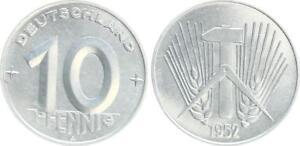 GDR 10 Pfennig 1952 A Brilliant Uncirculated (1)