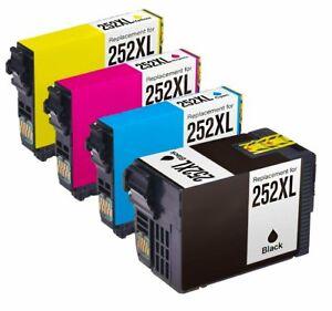 4Pk-252-XL-T252XL-Ink-Cartridge-For-Epson-WorkForce-WF-3620-WF-3640-WF-7110