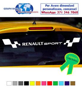 Fascia-adesiva-lunotto-posteriore-RENAULT-Sport-strisce-adesivi-clio-megane