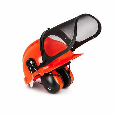Chainsaw Helmet Hard Hat Forestry Safety Helmet w// Ear Muffs Plastic Mesh Visor