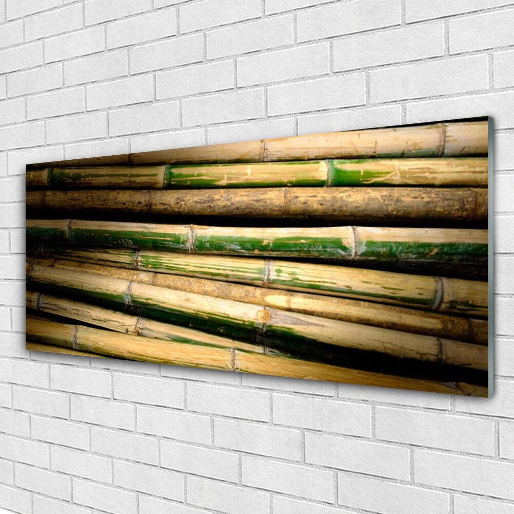 Impression sur verre Wall Art 125x50 Photo Image Bambou Floral