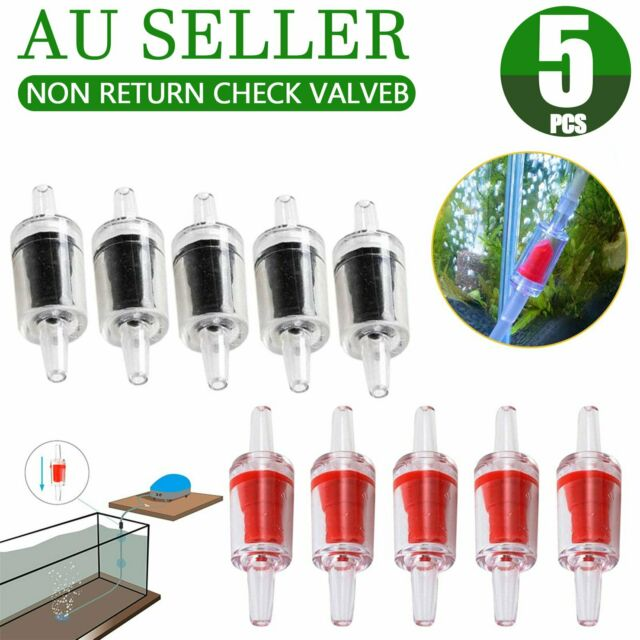 Aquarium Fish Tank Air Pump Silicone Non-Return One Way Check Valve CO2 5pcs AU