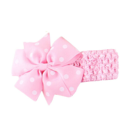 Newborn Headband Ribbon Elastic Baby Headdress Kids Hair Band Girl Bow UK cute