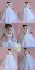 """Sherry Wedding dress Outfit for Fashion Royalty 11.5-12"""" doll STO-bride-5"""