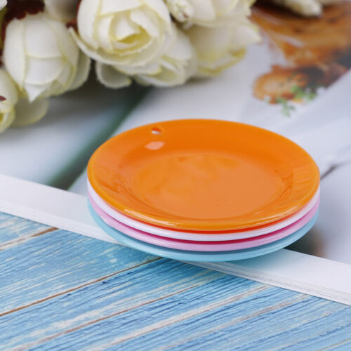 3Pcs 1:12 Dollhouse miniature round dishes plate tableware doll kitchen toys BP