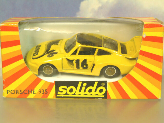 1980'S Solido Metal 1/43 Porsche 935 Turbo J. David #16 Hecho en Francia #1332