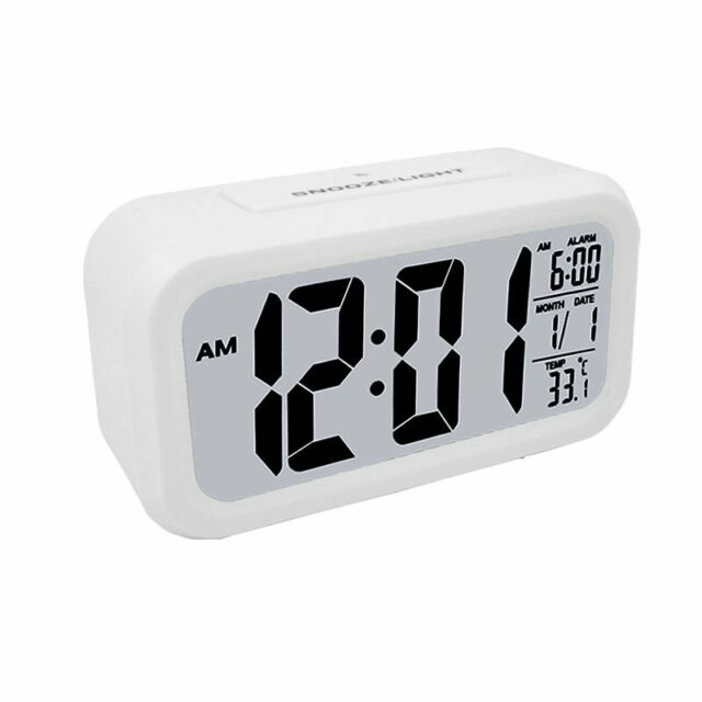 Digital Voice Talking Snooze Alarm Clock Temperature Calendar With Backlight Home Decor Home Garden