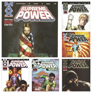 ° Supreme Power #1 hasta 6 contact ° us Marvel Max 2003 J.M. Straczynski