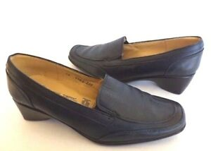 Enrico-Ferri-Buttery-Soft-Leather-Loafer-Shoes-Med-Heel-Navy-Women-039-s-10-Mexico