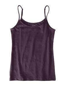 LOFT-Outlet-Women-039-s-L-NWT-22-50-Winter-Violet-Cotton-Stretch-Camisole-Tank