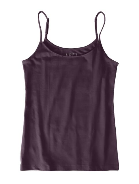 LOFT Outlet Women's M - NWT$22.50 - Winter Violet Cotton Stretch Camisole Tank