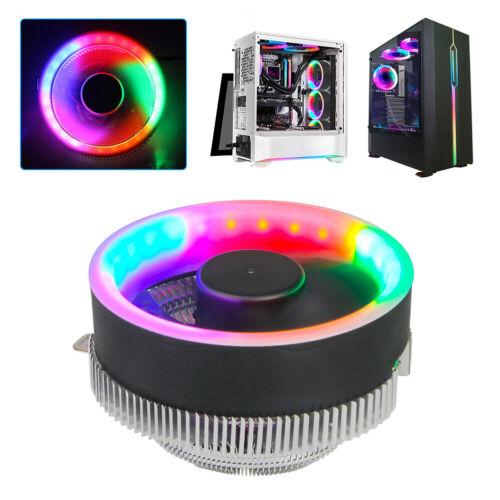 Durable RGB Fan Heatsink Desktop Computer CPU Cooler Silent For Intel LGA 1156